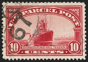 Sale Number 1199, Lot Number 1593, Special Delivery, Offices in China, Parcel Post10c Parcel Post (Q6), 10c Parcel Post (Q6)