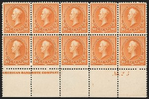 Sale Number 1200, Lot Number 139, 1890-93 Issue (Scott 219-229),