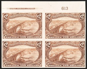 Sale Number 1200, Lot Number 174, 1898 Trans-Mississippi Issue (Scott 285-293)The unique plate block of the $2, The unique plate block of the $2