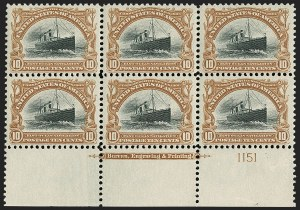 Sale Number 1200, Lot Number 179, 1901 Pan-American Issue (Scott 294-299),
