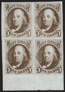 Sale Number 1200, Lot Number 2, 5¢ and 10¢ 1847 Issue (Scott 1-2),