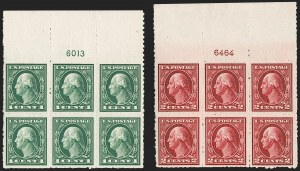 Sale Number 1200, Lot Number 222, 1912-14 Washington-Franklin Issue (Scott 405-422),