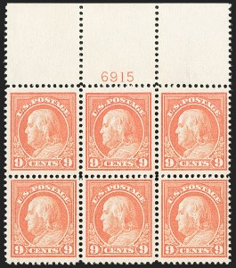 Sale Number 1200, Lot Number 223, 1912-14 Washington-Franklin Issue (Scott 405-422),