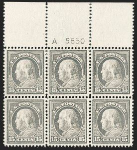 Sale Number 1200, Lot Number 225, 1912-14 Washington-Franklin Issue (Scott 405-422),