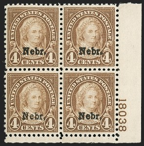 Sale Number 1200, Lot Number 273, 1923-29 Issues, including Kans.-Nebr. Overprints (Scott 573-678),