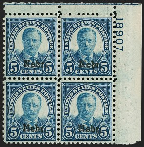 Sale Number 1200, Lot Number 274, 1923-29 Issues, including Kans.-Nebr. Overprints (Scott 573-678),
