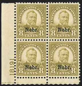 Sale Number 1200, Lot Number 276, 1923-29 Issues, including Kans.-Nebr. Overprints (Scott 573-678),