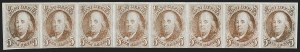 Sale Number 1200, Lot Number 3, 5¢ and 10¢ 1847 Issue (Scott 1-2),