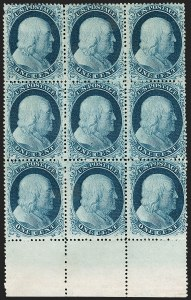 Sale Number 1200, Lot Number 32, 1¢-90¢ 1857-60 Issue (Scott 18-39),