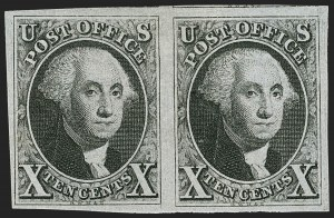Sale Number 1200, Lot Number 4, 5¢ and 10¢ 1847 Issue (Scott 1-2),
