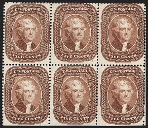 Sale Number 1200, Lot Number 40, 1¢-90¢ 1857-60 Issue (Scott 18-39),