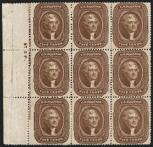 Sale Number 1200, Lot Number 43, 1¢-90¢ 1857-60 Issue (Scott 18-39),