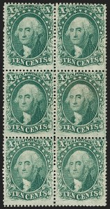 Sale Number 1200, Lot Number 45, 1¢-90¢ 1857-60 Issue (Scott 18-39),