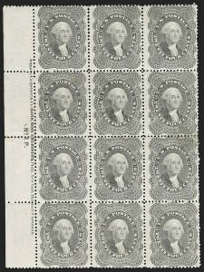 Sale Number 1200, Lot Number 48, 1¢-90¢ 1857-60 Issue (Scott 18-39),