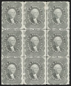 Sale Number 1200, Lot Number 49, 1¢-90¢ 1857-60 Issue (Scott 18-39),