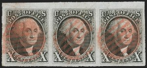 Sale Number 1200, Lot Number 5, 5¢ and 10¢ 1847 Issue (Scott 1-2),