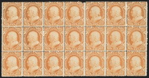 Sale Number 1200, Lot Number 50, 1¢-90¢ 1857-60 Issue (Scott 18-39),