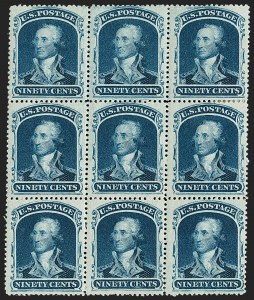 Sale Number 1200, Lot Number 51, 1¢-90¢ 1857-60 Issue (Scott 18-39),