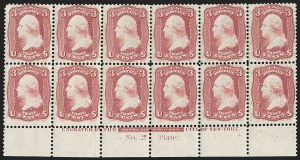 Sale Number 1200, Lot Number 52, 1861-66 Issue (Scott 56-77),