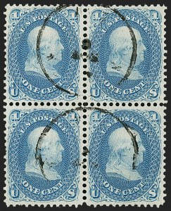 Sale Number 1200, Lot Number 54, 1861-66 Issue (Scott 56-77),