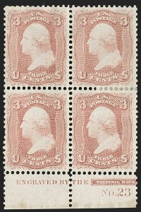 Sale Number 1200, Lot Number 56, 1861-66 Issue (Scott 56-77),