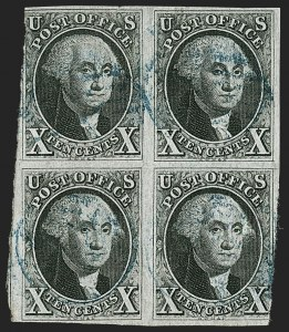 Sale Number 1200, Lot Number 6, 5¢ and 10¢ 1847 Issue (Scott 1-2),