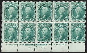 Sale Number 1200, Lot Number 63, 1861-66 Issue (Scott 56-77),