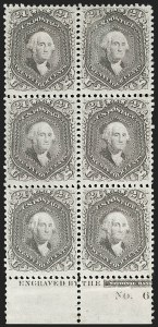 Sale Number 1200, Lot Number 65, 1861-66 Issue (Scott 56-77),