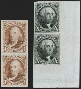 Sale Number 1200, Lot Number 7, 1875 Reproduction of 1847 Issue (Scott 3-4),
