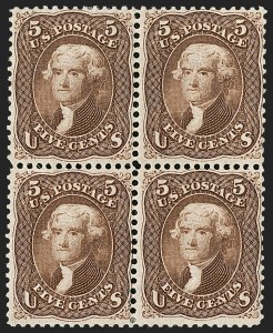 Sale Number 1200, Lot Number 72, 1861-66 Issue (Scott 56-77),