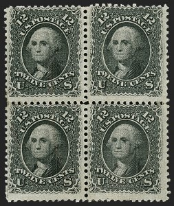Sale Number 1200, Lot Number 77, 1867-68 Grilled Issue (Scott 79-101),
