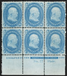 Sale Number 1200, Lot Number 83, 1867-68 Grilled Issue (Scott 79-101),