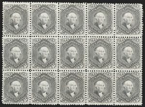 Sale Number 1200, Lot Number 92, 1867-68 Grilled Issue (Scott 79-101),