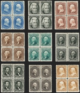 Sale Number 1200, Lot Number 95, 1875 Re-Issue of 1861-66 Issue (Scott 102-110),