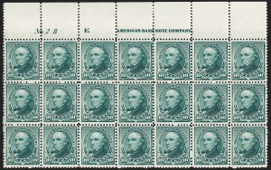 Sale Number 1201, Lot Number 2075, Imprint and Plate Number Blocks10c Green (226), 10c Green (226)