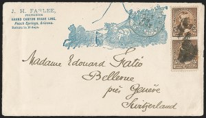 Sale Number 1201, Lot Number 2119, Bicycle Mail Route, Expresses, Bisects5c Chocolate (223), 5c Chocolate (223)