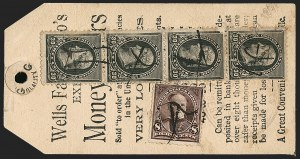 Sale Number 1201, Lot Number 2121, Bicycle Mail Route, Expresses, Bisects30c Black (228), 30c Black (228)