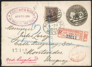 Sale Number 1201, Lot Number 2138, Foreign Mail: Central and South America8c Lilac (225), 8c Lilac (225)