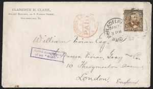Sale Number 1201, Lot Number 2140, Foreign Mail: Great Britain5c Chocolate (223), 5c Chocolate (223)