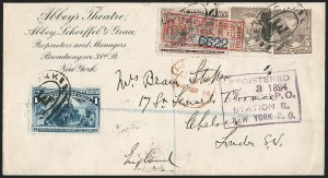 Sale Number 1201, Lot Number 2141, Foreign Mail: Great Britain5c Chocolate (223), 5c Chocolate (223)