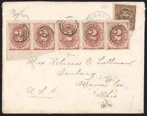 Sale Number 1201, Lot Number 2142, Foreign Mail: Great Britain5c Chocolate (223), 5c Chocolate (223)