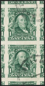 Sale Number 1202, Lot Number 2305, 1906-08 Impeforate Issue (Scott 314-315)1c Blue Green, Imperforate (314), 1c Blue Green, Imperforate (314)