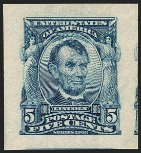 Sale Number 1202, Lot Number 2307, 1906-08 Impeforate Issue (Scott 314-315)5c Blue, Imperforate (315), 5c Blue, Imperforate (315)