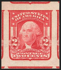 Sale Number 1202, Lot Number 2312, 1906-08 2-Cent Shield Imperforate Issue (Scott 320-320A)2c Carmine, Ty. I, Imperforate (320), 2c Carmine, Ty. I, Imperforate (320)