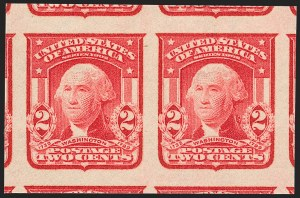 Sale Number 1202, Lot Number 2313, 1906-08 2-Cent Shield Imperforate Issue (Scott 320-320A)2c Carmine, Ty. I, Imperforate (320), 2c Carmine, Ty. I, Imperforate (320)