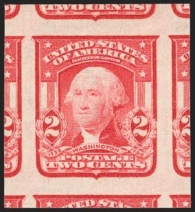 Sale Number 1202, Lot Number 2315, 1906-08 2-Cent Shield Imperforate Issue (Scott 320-320A)2c Scarlet, Ty. I, Imperforate (320b), 2c Scarlet, Ty. I, Imperforate (320b)