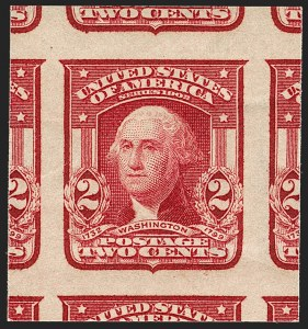 Sale Number 1202, Lot Number 2317, 1906-08 2-Cent Shield Imperforate Issue (Scott 320-320A)2c Lake, Ty. II, Imperforate (320A; formerly 320a), 2c Lake, Ty. II, Imperforate (320A; formerly 320a)