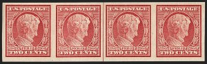 Sale Number 1202, Lot Number 2375, 1909 Lincoln Impeforate Coil (Scott 368H)2c Lincoln, Imperforate Coil (368H), 2c Lincoln, Imperforate Coil (368H)