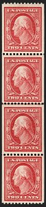Sale Number 1202, Lot Number 2382, 1910 Perf 12 Vertical Coils, Single-Line Watermark (Scott 385-386)2c Carmine, Coil (386), 2c Carmine, Coil (386)