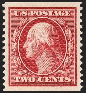 Sale Number 1202, Lot Number 2396, 1910-11 Perf 12 Horizontal Coils, Single-Line Watermark (Scott 387-389)2c Carmine, Coil (388), 2c Carmine, Coil (388)